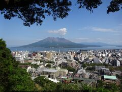 城山展望台よりの桜島と鹿児島市内