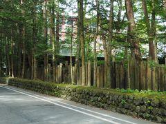 ランチのあとは旧軽井沢エリアへ 軽井沢の鹿鳴館として各界の要人たちの社交場ともなった旧三笠ホテル。その洋館を見学したいと向かったのですが、なんと保存修理工事のため休館中でした(><)事前に最新情報をチェックしておかないとダメですね・・・