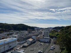 駅近くの御幸山公園からの水戸方面の眺め。