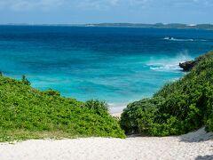 久しぶりの砂山ビーチ。ここも海が綺麗です
