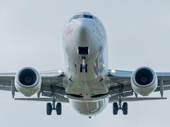 続いて宮古空港へ。ちょうど着陸がある時間帯で飛行機をバッチリ見れました