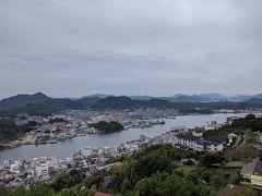 展望台からは尾道の街が一望できます。曇り空なのがちょっと残念。