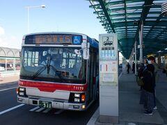 五稜郭タワー・トラピスチヌシャトルバスにてトラピスチヌ修道院に向かいます。