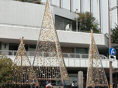 常設されている金箔の雪吊り。