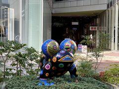 ぐるっと回って、キャナルシティ。 かわいいカエルちゃんがお出迎え。 お気に入りのブランドの日本一号店があるので行ってみました。