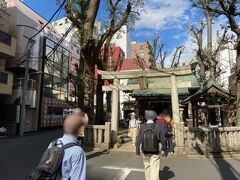 少し歩くと恵比寿神社です。