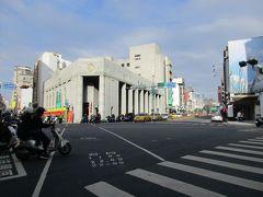 先ほどご紹介した台湾土地銀行の外観。 戦前日本の銀行建築らしく、威風堂々といった佇まいです。