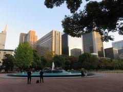 日比谷公園から帝国ホテルを見る