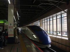 長野行「あさま」で出発します。 コロナのおかげで一時は乗客はほとんどいなかった時に比べれば「GOTO」のおかげでだいぶお客さんが戻ってきていました。  上田駅で降ります。