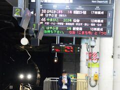 昼前に十和田湖に着くためには、始発の新幹線(はやぶさ1号)で八戸乗換が一番早いことがわかり、上野から乗車します。 上野6:38 ⇒ 八戸9:22着