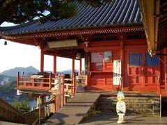 朝の散歩 千光寺 本堂  806年の開基で、千光寺本堂は俗に赤堂と呼ばれる。本尊は千手観世音菩薩。33年に一度開帳の秘仏です。