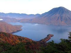 そして、コレッ! 中禅寺湖と八丁出島、男体山のコラボ! これが今回の目的なのでした。  ん~、来てよかった!