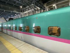 4時間はそこそこの乗りでがありました。定刻通りに新函館北斗駅に到着。 やはり東京より気温が低い。駅の待合にはすでに暖房。