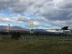 立派な吊橋もあって、白鳥大橋というらしい(^_^)