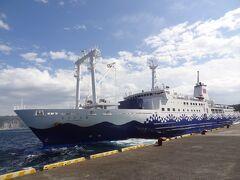東海汽船:さるびあ丸(6,099t)。 東京→神津島に乗って、その折り返し東京行きに乗って着いたのは‥