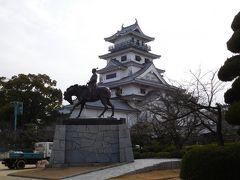 松山から車で1時間かけて「今治城」へ