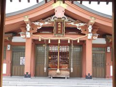 今治城すぐ近くの「吹揚神社」にも参拝しました。