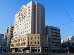 宿泊先のホテル「ホテルマイステイズ松山」へ。 (旧JALシティホテルです。)