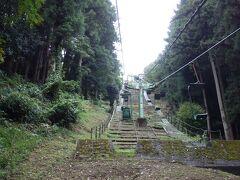 リフトに乗って津和野城へ
