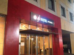 西口のロータリーを突っ切って、祇園城通り沿いに建つホテルへ到着。2連泊しました。  ※荷物があったので、夕食前に撮影。