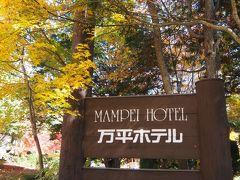 駅から、大賀通りーささやきの小径ー万平通りを通って万平ホテルに到着。  そういえば、9月に軽井沢来たときは来なかったな。