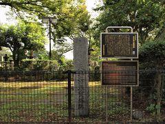 その桜並木の中ほどに、天王寺の五重塔跡地が保存されています。  谷中霊園内の護国山尊重院天王寺にある五重塔は、1644年に建立されました。1772年に火事の被害を受けましたが、1791年に再建。明治25年(1892年)には幸田露伴の小説『五重塔』の題材になったことから一躍有名になり、地域のシンボルとして親しまれていましたが、昭和32年(1957年)7月6日に焼失。心中自殺を図った男女による放火とされています。(NHKの放送史から)