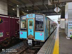青森駅までの移動は青い森鉄道を利用。 新幹線と迷いましたが、東北本線時代も含めこの区間を乗車したことがないのと、海岸沿いも走るので風景を楽しみながら移動できるかもと青い森鉄道を使ってみました。