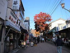 ホテルで一休みした後、歩いて10分ほどで旧軽井沢銀座へ。