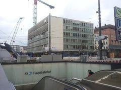 ミュンヘン中央駅 (ハウプトバーンホフ)前は大規模な工事中。 そのため一部トラムの路線は迂回路になっており、大幅に路線変更されていますのでご注意ください。
