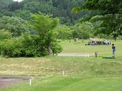 湖畔公園へ.ここにはテニスコートやキャンプ場があります.