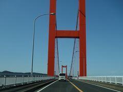 平戸大橋を渡って平戸島へ。 ここまで2時間弱です。