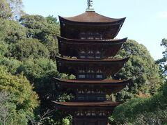 国宝瑠璃光寺五重塔は檜皮葺屋根造り