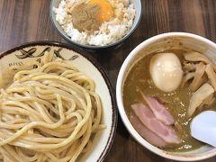 ランチは一乗寺「恵那く」にて、特製カレーつけ麺とTKG。