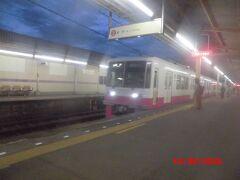 新京成線  「松戸新田」駅  05:46発  松戸駅行き。
