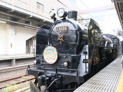 国鉄C61形蒸気機関車。1947年から49年にかけて製造されたテンダー式蒸気機関車で、D51同様、戦後日本の旅客輸送を担ってきました。人間の年齢に置き換えると、70歳は優に越えています。正式に運用から引退してもなお、このような力強い姿を見ると、まるで自分の方が昔にタイムスリップしたような感覚を覚えます。  ホーム上では、その姿を撮ろうとたくさんの乗客がカメラを構えていました。もちろん僕もその1人です。