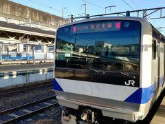 栃木県の黒磯駅で東北本線に乗り換えます。