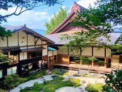 普済寺庭園と本堂。