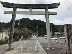 10:55 佐太神社到着 駐車場の横にある鳥居から参道を進みます