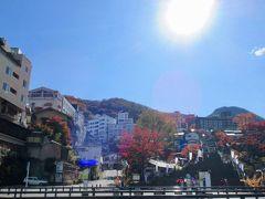 帰り道の伊香保温泉 車列が ちょっと詰まったので 紅葉の石段街をパシャリ!
