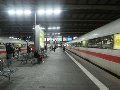 ミュンヘン中央駅 に到着  帰りのICEの最終地はハンブルクードイツを南から北へとまさに縦断するルート 帰路の切符ももちろん超特割で23.5ユーロ(3、000円ぐらい)