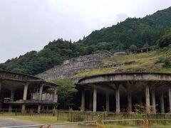 少し手前からでもその存在がはっきり分りゾクゾクしました。 神子畑選鉱場に到着です。