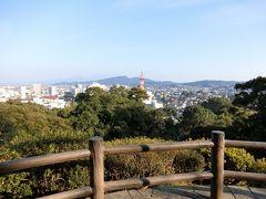 少し高台に来ました。眺めがいいです。市内が一望。