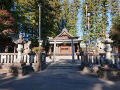 三宜亭のお隣りにあった長姫神社。 パチパチしました。