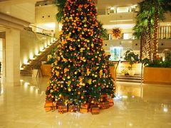 朝方、作業をしていたクリスマスツリーが完成してました