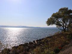 会津までドライブがてら猪苗代湖へ。