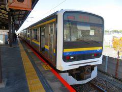 京成線にて自宅出発、京成成田でJR成田線に乗換。