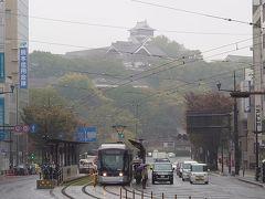 熊本駅まで行こうかと思ったけど、にぎやかな感じだったからバスを降りた。