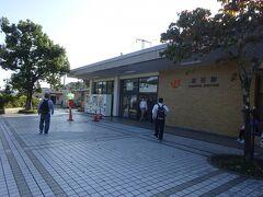 金谷駅の駅前。以前から印象が変わらない。