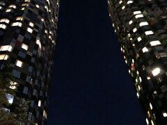 ホテル到着時はすでに真っ暗