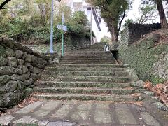 オランダ商館跡の階段をのぼって崎方公園に。この周辺はオランダ人の居住地だったらしい。